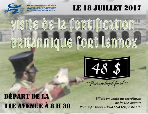 Affiche Fort Lennox CCRSJB