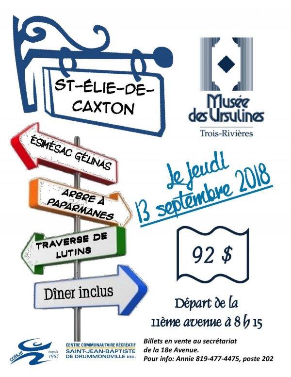 Sortie à St-Élie-de-Caxton CCRSJB