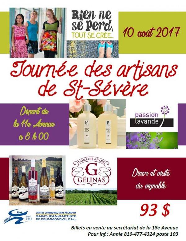 Affiche tournée des artisans St-Sévère CCRSJB